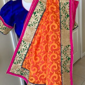 Other - Sari with blouse New Indian wedding party wear